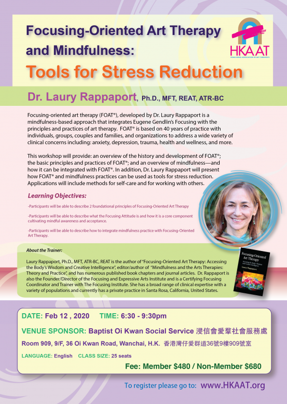 [CANCELLED] Focusing-Oriented Art Therapy and Mindfulness: Tools for Stress Reduction