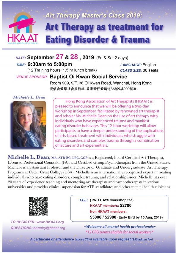 Art Therapy as Treatment for Eating Disorder & Trauma (CANCELLED)